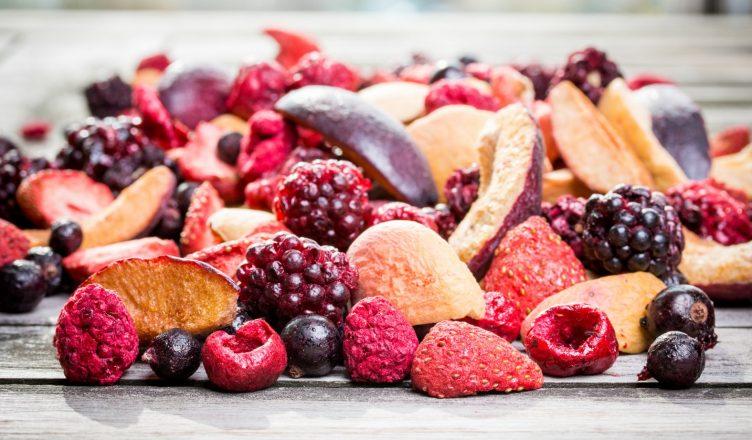 mrazom sušené ovocie